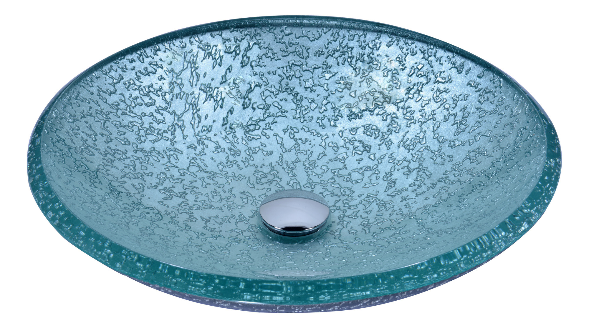 ANZZI LS-AZ208 Arc Series Tempered Deco-Glass Vessel Sink In Clear Glass