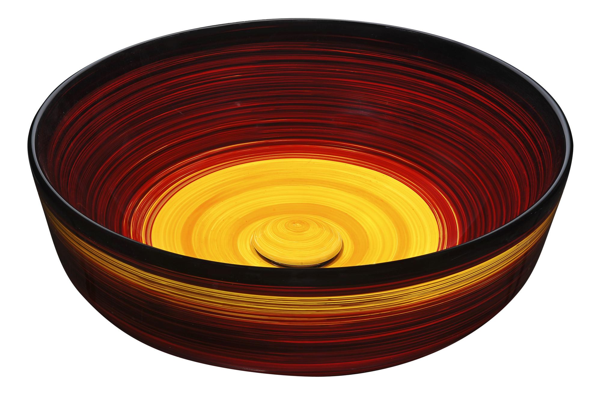 ANZZI LS-AZ231 Dusk Crown Series Ceramic Vessel Sink In Rising Blur Finish