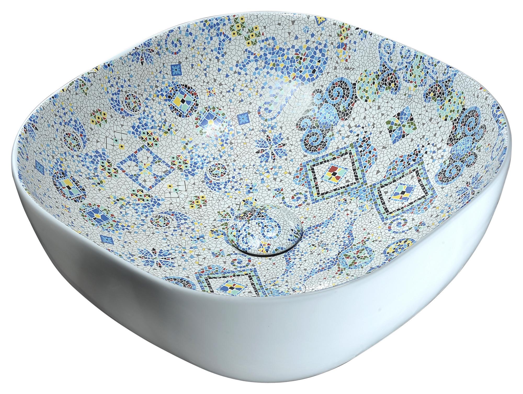 ANZZI LS-AZ246 Byzantian Ceramic Vessel Sink In Byzantine Mosaic Finish