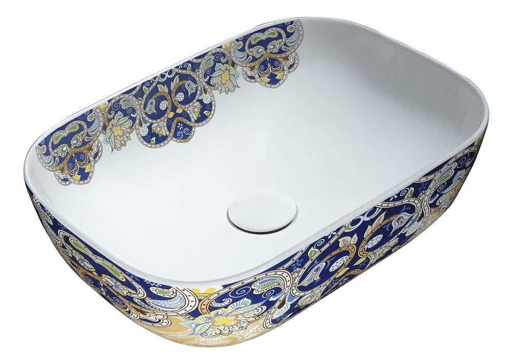 ANZZI LS-AZ249 Byzantian Ceramic Vessel Sink In Byzantine Mosaic Finish