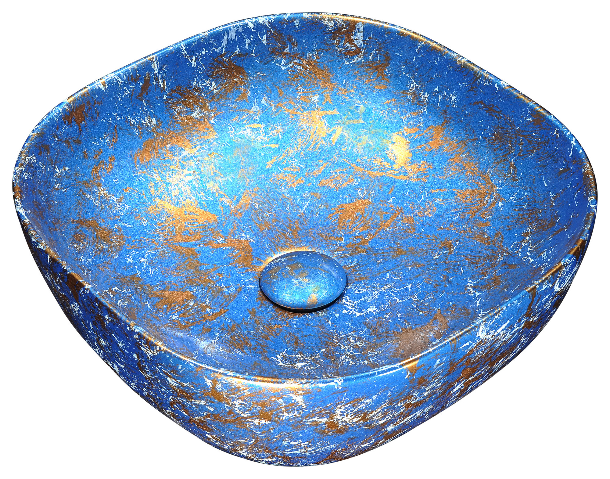 ANZZI LS-AZ253 Marbled Series Ceramic Vessel Sink In Marbled Tulip Finish