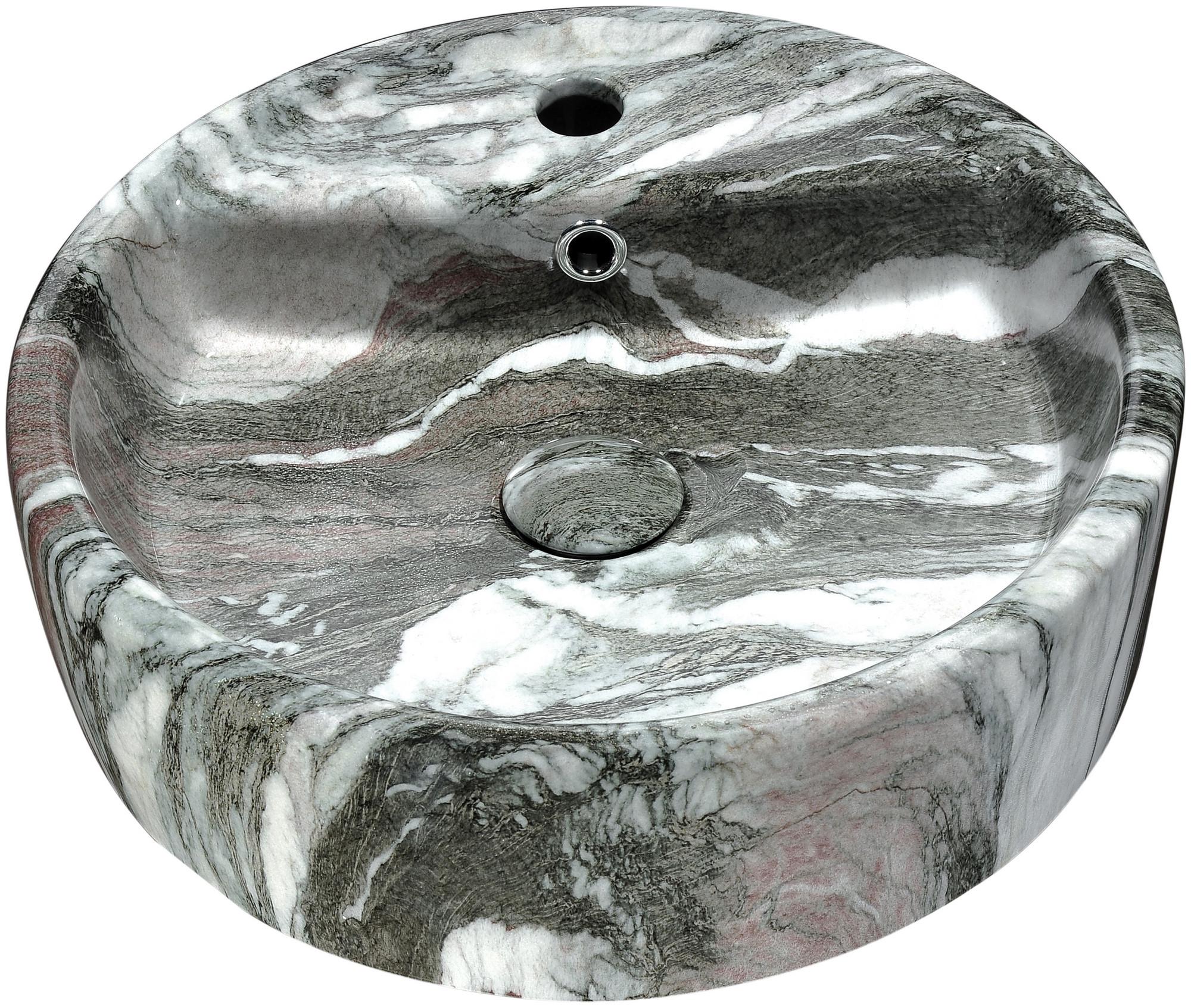 ANZZI LS-AZ254 Rhapsody Series Ceramic Vessel Sink In Neolith Marble Finish