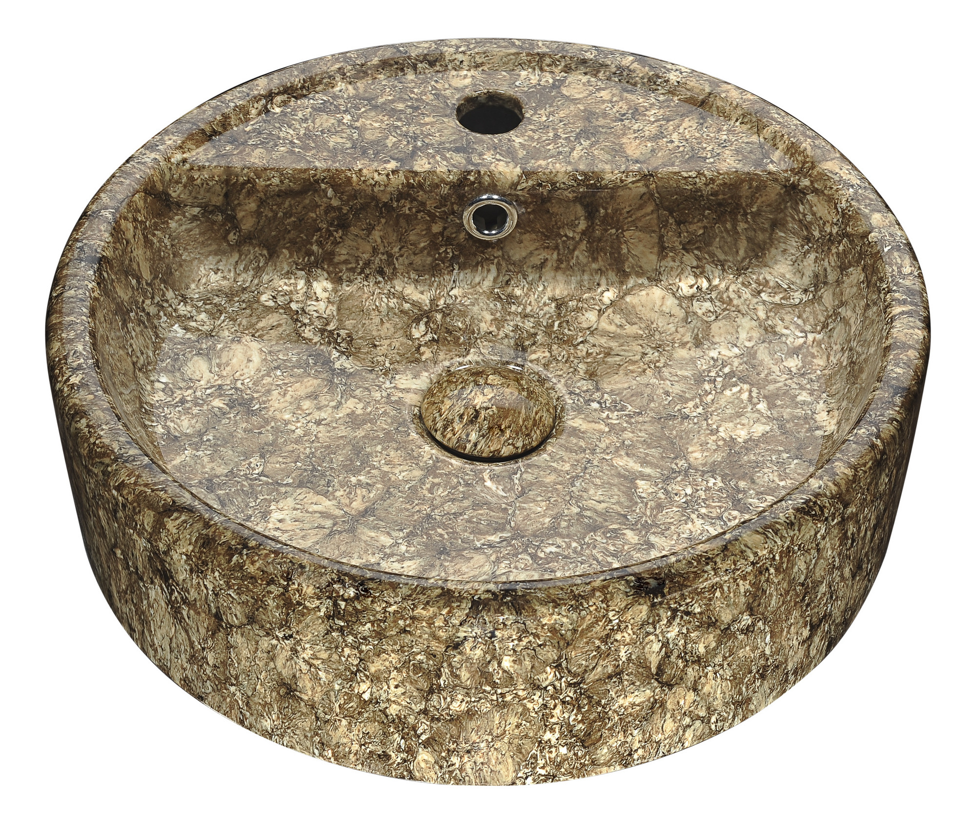 ANZZI LS-AZ257 Rhapsody Series Ceramic Vessel Sink In Neolith Marble Finish