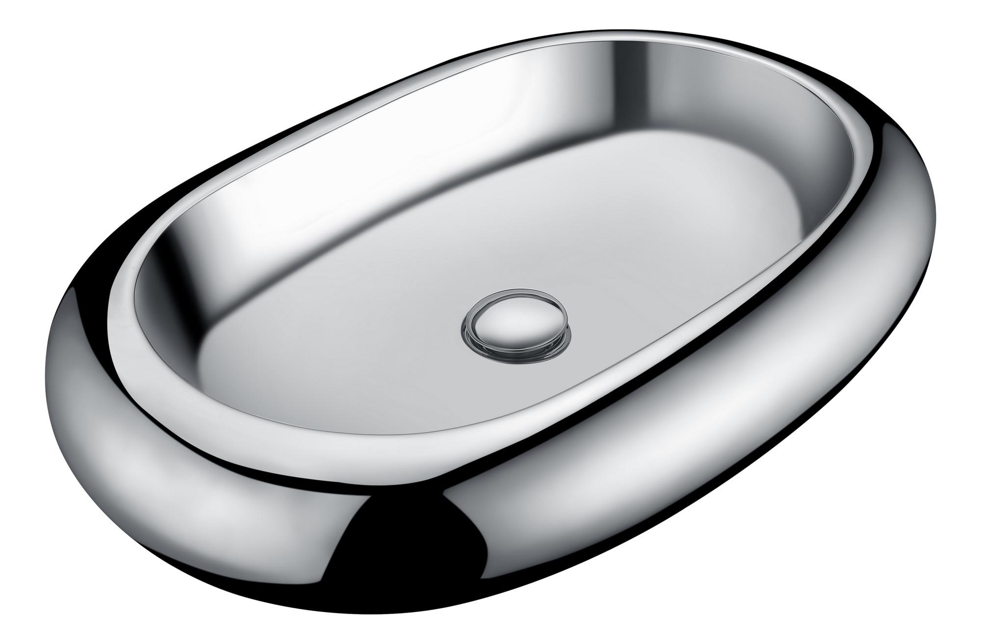 ANZZI LS-AZ269 Prussian Series Vitreous China Ceramic Vessel Sink In Silver