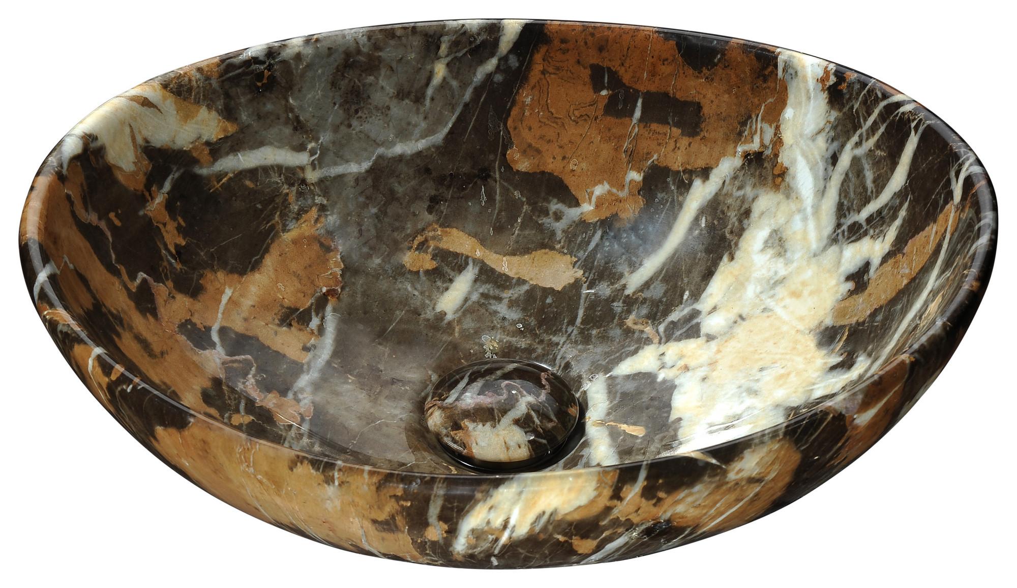 ANZZI LS-AZ279 Sona Vitreous China Ceramic Vessel Sink In Marbled Adobe