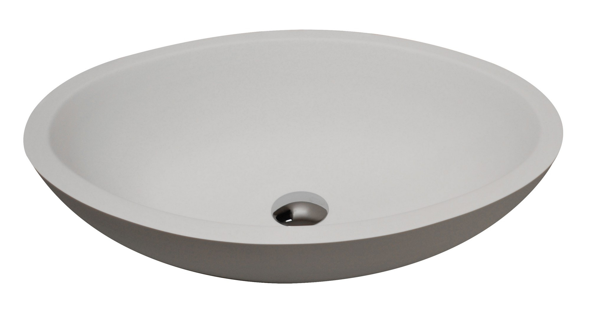 ANZZI LS-AZ608 Man Made Stone Vessel Sink With Pop Up Drain In Matte White