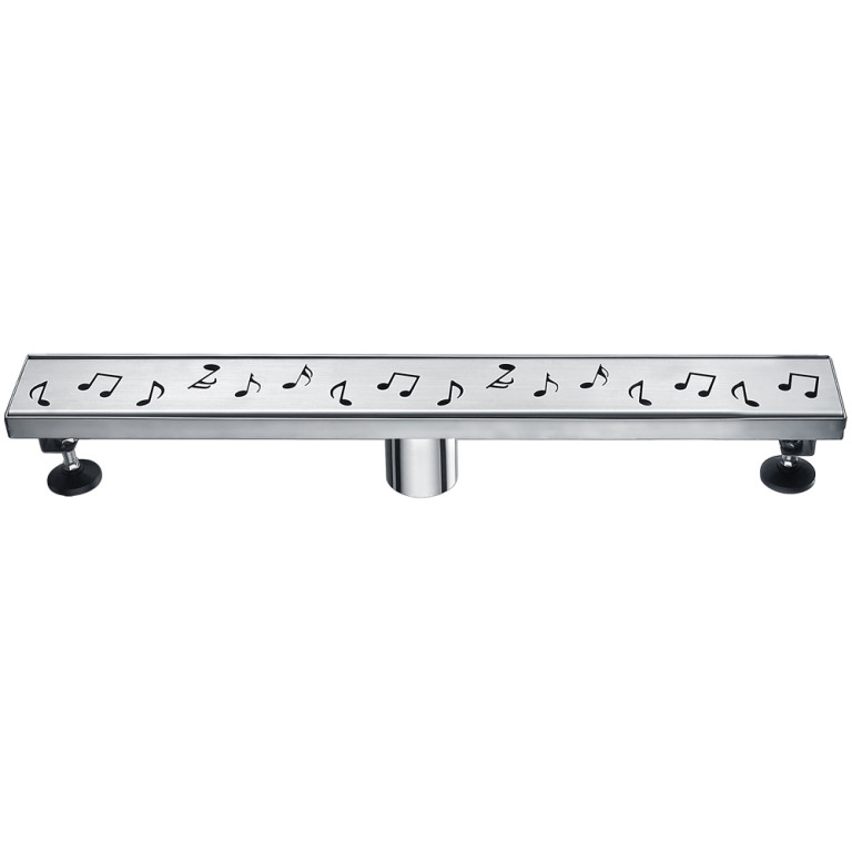 "Dawn® LSE240304 Seine River Series Linear Shower Drain 24""L In Polished Satin"
