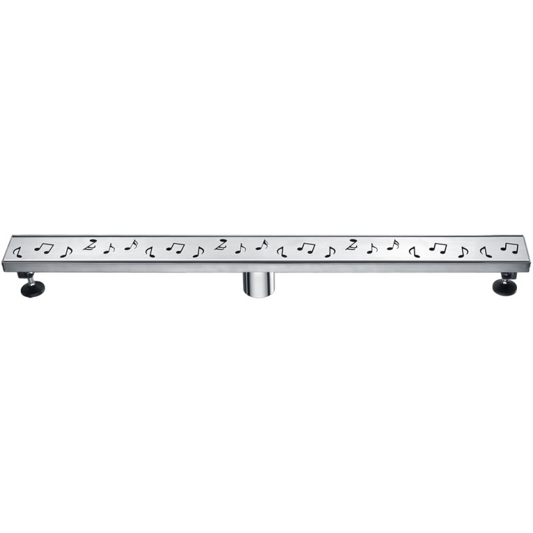 "Dawn® LSE320304 Seine River Series Linear Shower Drain 32""L In Polished Satin"