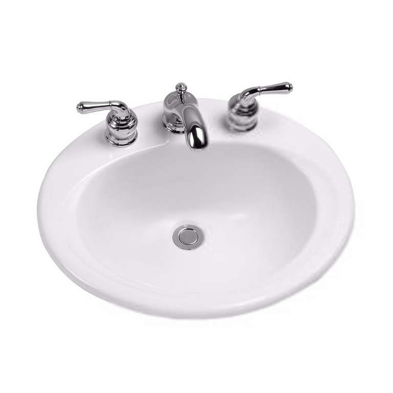 TOTO LT401 Vitreous China Self Rimming Lavatory Sink