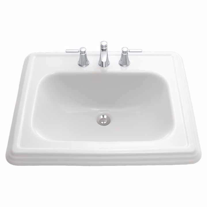 TOTO LT531#01 Cotton Promenade® Self Rimming Lavatory Sink With Single Faucet Hole