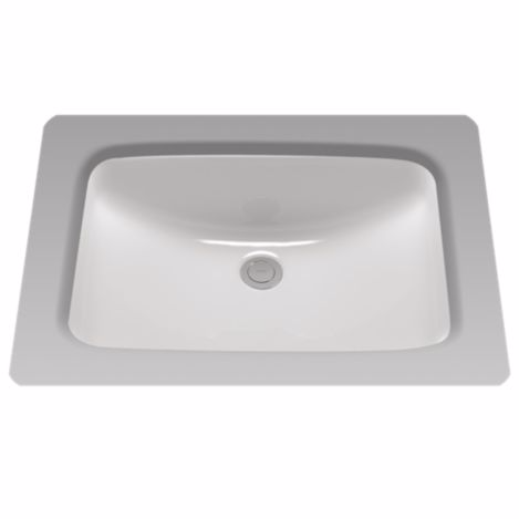 TOTO LT542G#01 Rectangular Undermount Bathroom Sink In Cotton