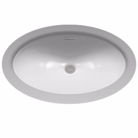 TOTO LT546G#11 Colonial White Undercounter Lavatory Sink Made of Vitreous China