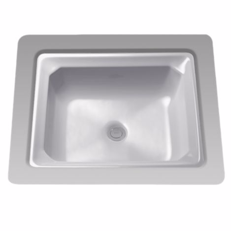 TOTO LT973G#11 Colonial White Guinevere® Vitreous China Undermount Lavatory Sink