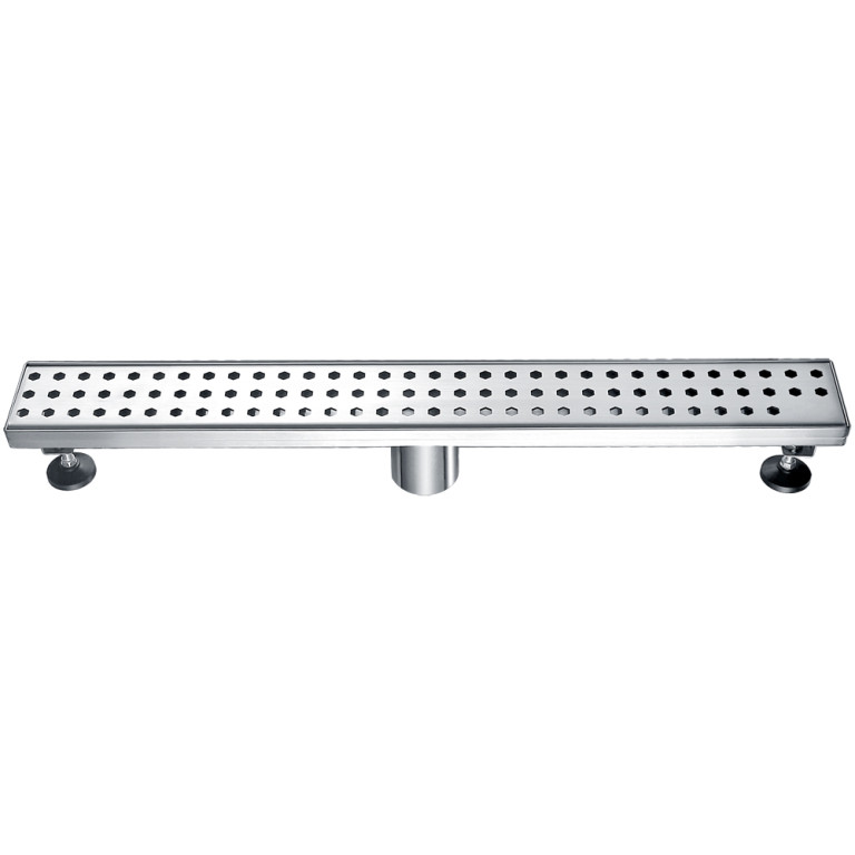 """Dawn® LTS240304 Thames River Series Linear Shower Drain 24""""L In Polished Satin"""