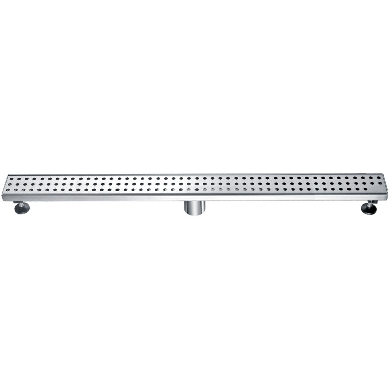"Dawn® LTS360304 Thames River Series Linear Shower Drain 36""L In Polished satin"
