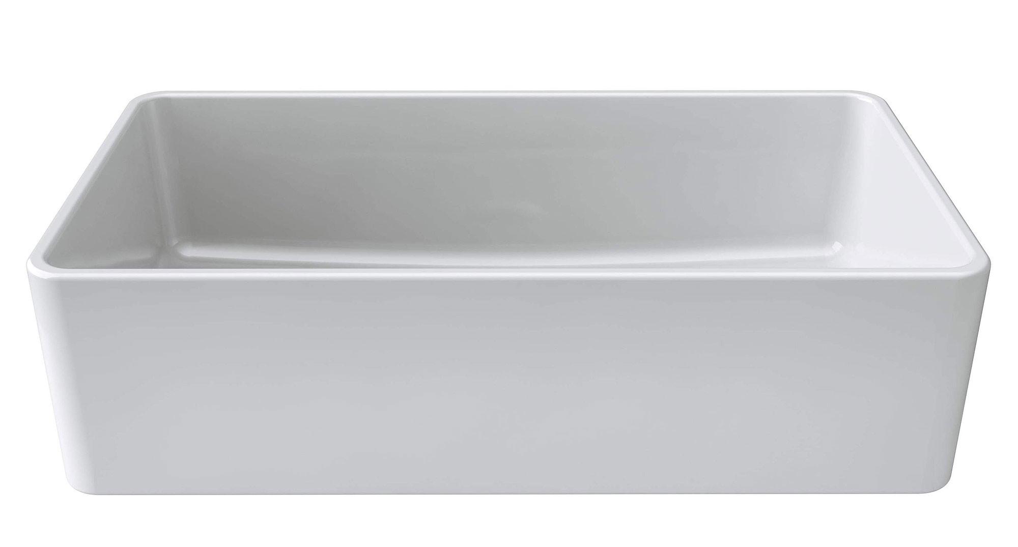 Latoscana LTW3619W Rectangular Reversible Farmhouse Kitchen Sink In White
