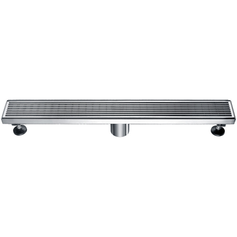 "Dawn® LWN240304 Wheaton River Series Linear Shower Drain 24""L In Polished Satin"