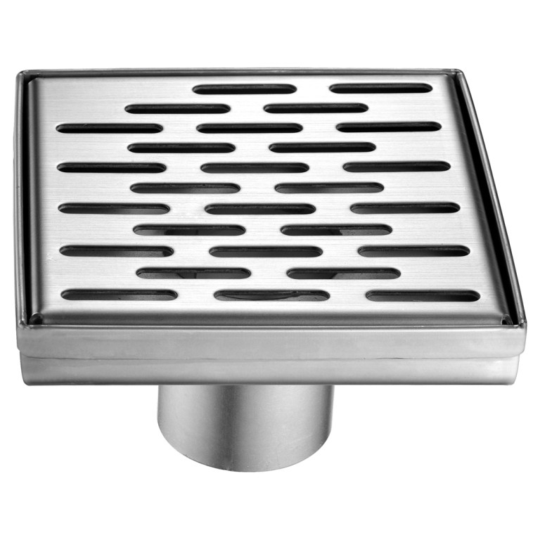 "Dawn® LYE050504 Yangtze River Series Square Shower Drain 5""L In Polished Satin"