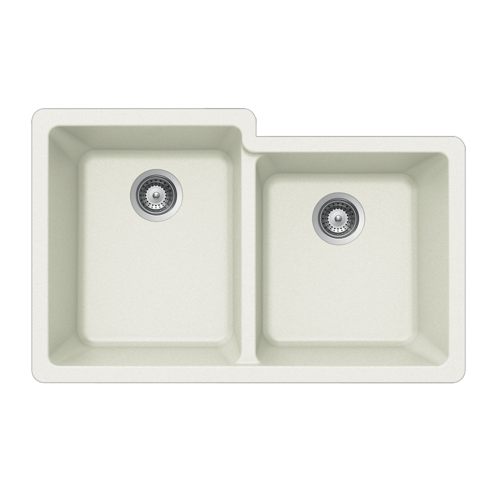 Houzer M-175U Quartztone Series Granite Undermount 60/40 Double Bowl Kitchen Sink