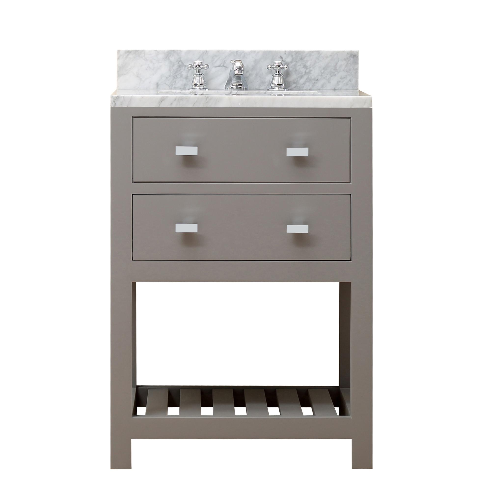 """Water Creation Madalyn24G 24"""" Cashmere Grey Single Sink Bathroom Vanity"""