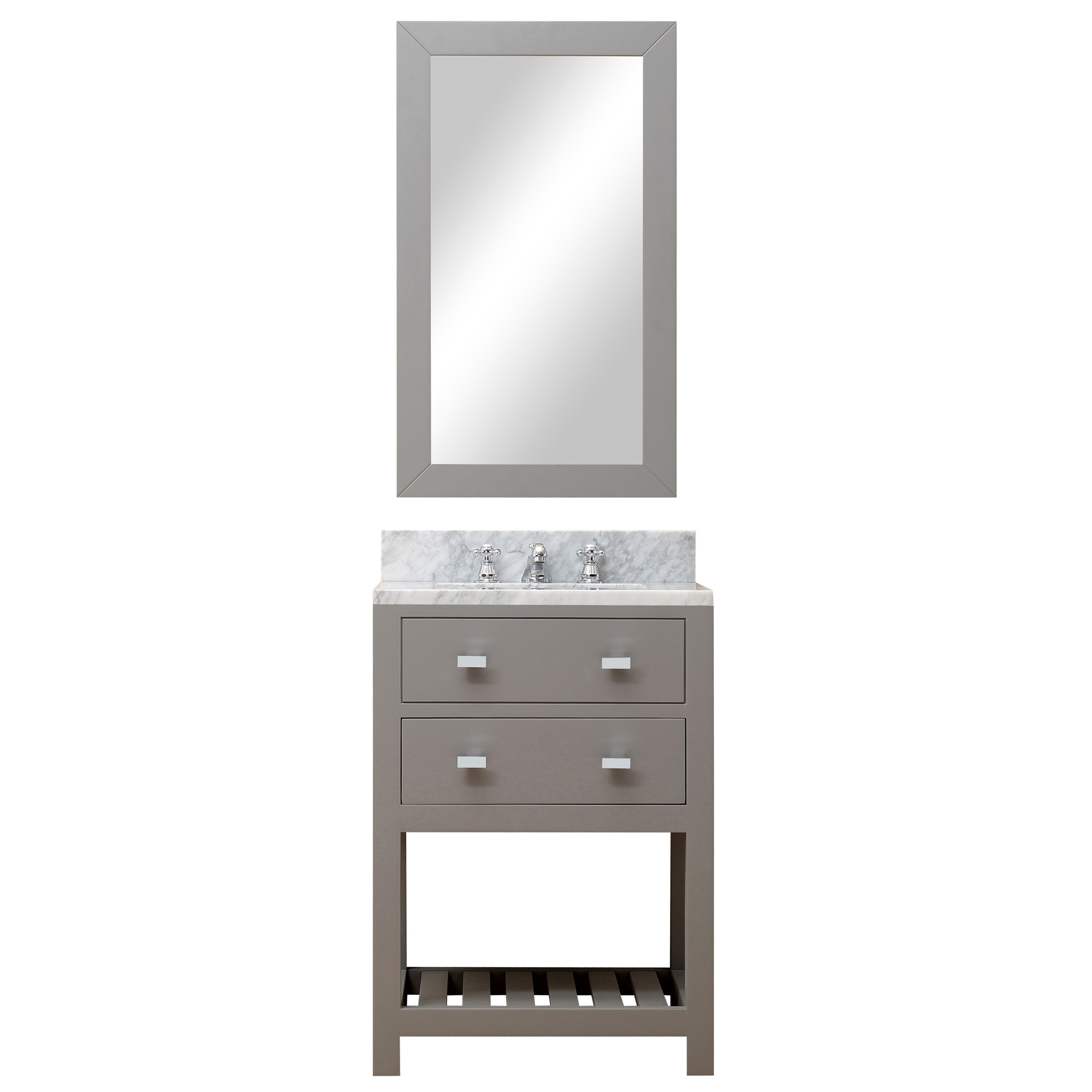 Water Creation Madalyn24GB Cashmere Grey Single Bath Vanity with Mirror