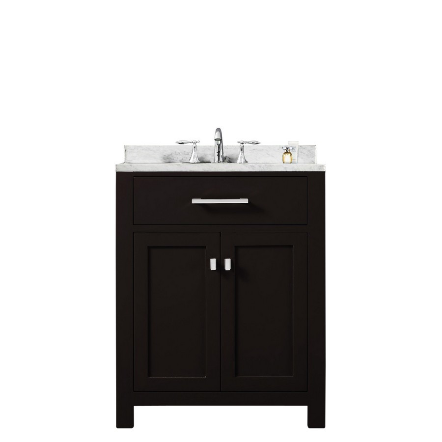 "Water Creation Madison24E 24"" Espresso Single Sink Bathroom Vanity"