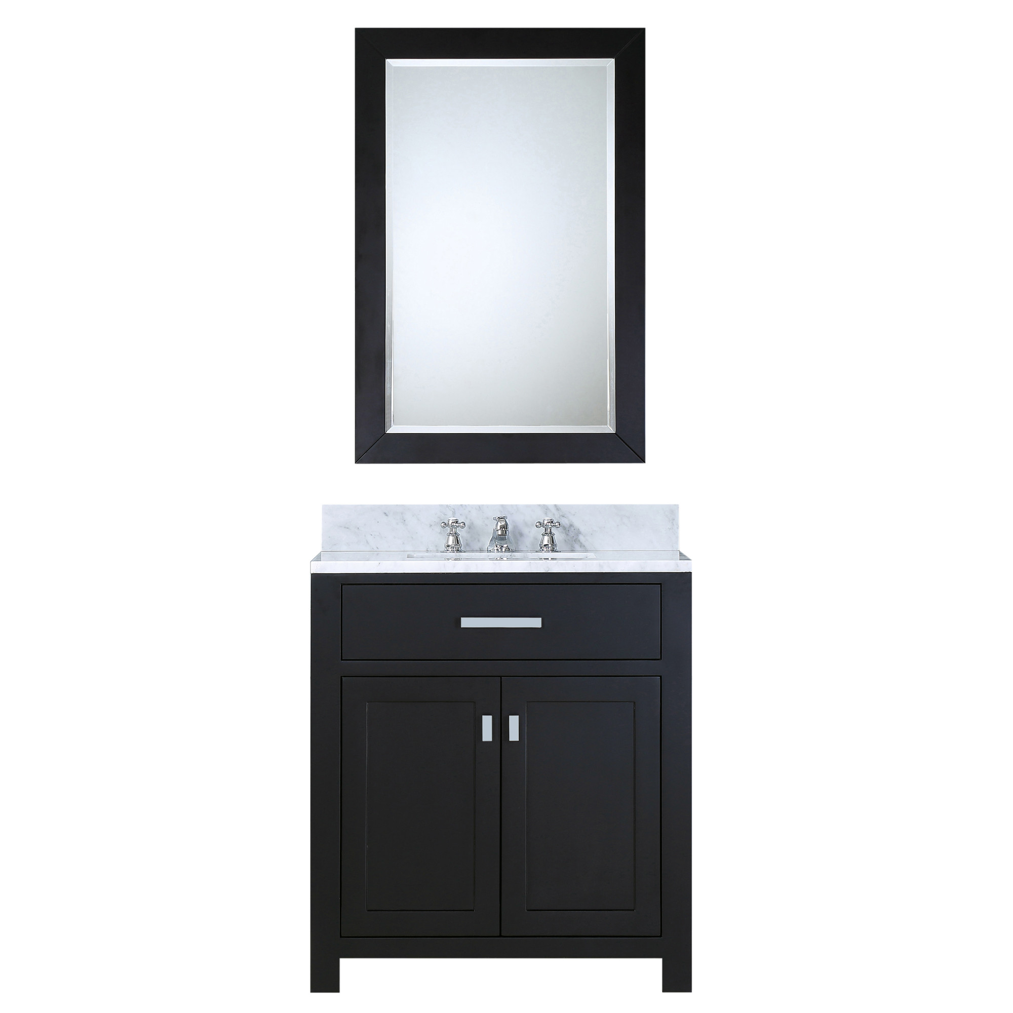 "Water Creation Madison30EBF 30"" Espresso Bath Vanity with Mirror & Faucet"
