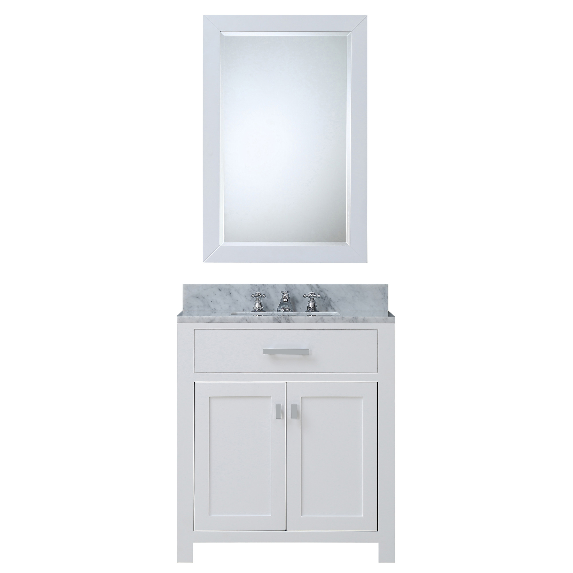 "Water Creation Madison30WBF 30"" Single Sink Vanity with Mirror And Faucet"