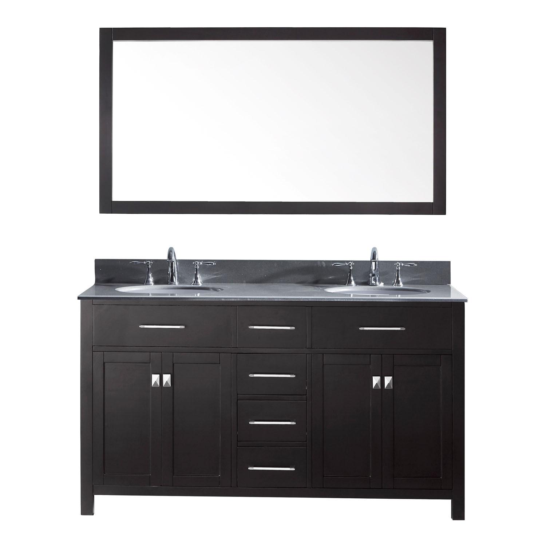 Virtu MD-2060-GQRO-002 Caroline 60 Inch Double Bathroom Vanity Set