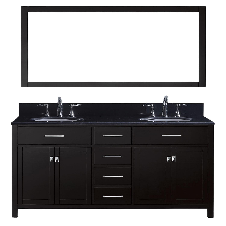 Virtu MD-2072-BGRO-ES Caroline 72 Inch Double Bathroom Vanity Set In Espresso