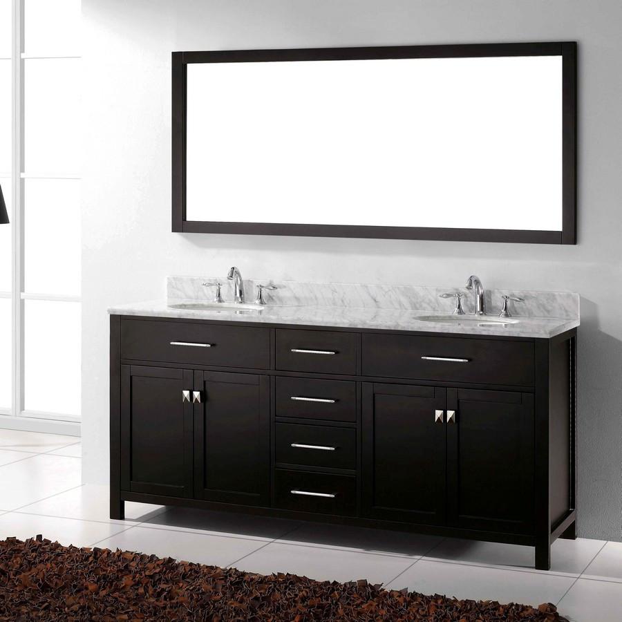Virtu MD-2072-WMRO-ES-001 Bath Vanity in Espresso with Carrara Marble