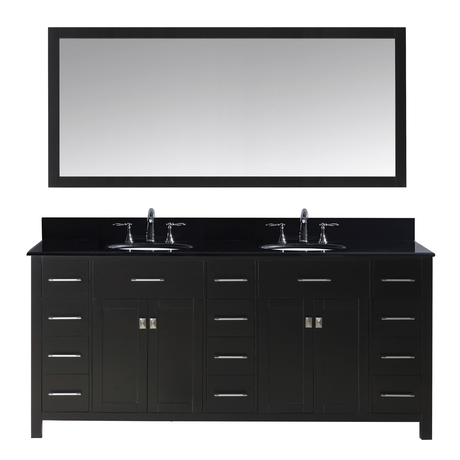Virtu MD-2172-BGRO-001 Caroline Parkway 72 Inch Double Bathroom Vanity Set
