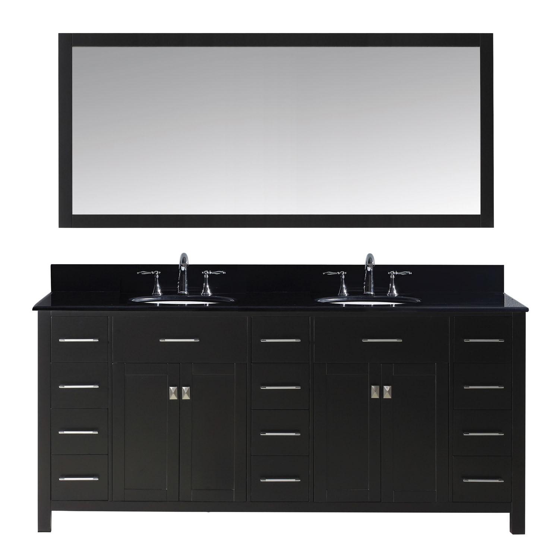 Virtu MD-2172-BGRO Caroline Parkway 72 Inch Double Bathroom Vanity Set