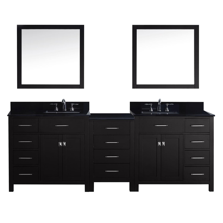 Virtu MD-2193-BGSQ Caroline Parkway 93 Inch Double Bathroom Vanity Set
