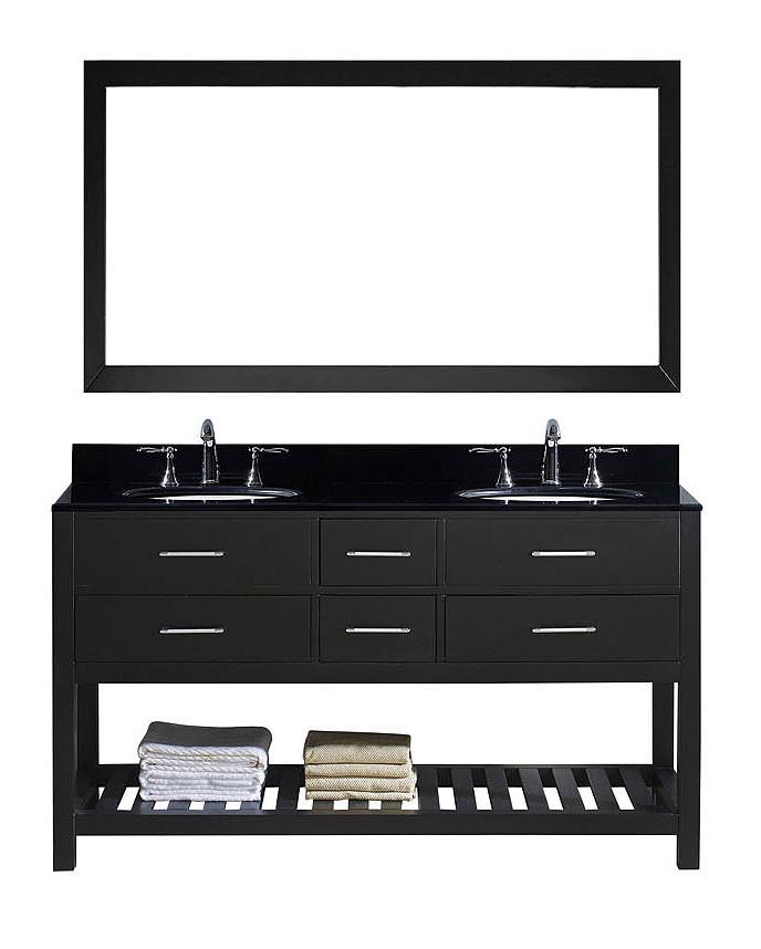 Virtu MD-2260-BGRO-ES-011 Caroline Estate 60 Inch Double Bathroom Vanity Set In Espresso