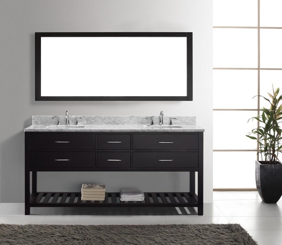 Virtu MD-2272-WMSQ-ES-012 Bath Vanity in Espresso with Carrara Marble