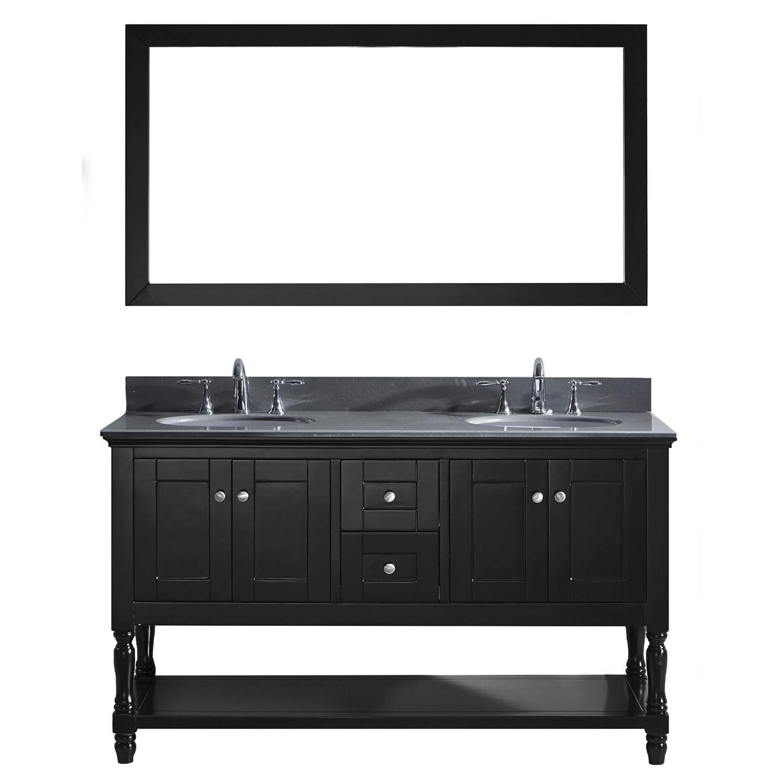 Virtu MD-3160-GQRO-ES-002 Julianna 60 Inch Double Bathroom Vanity Set In Espresso