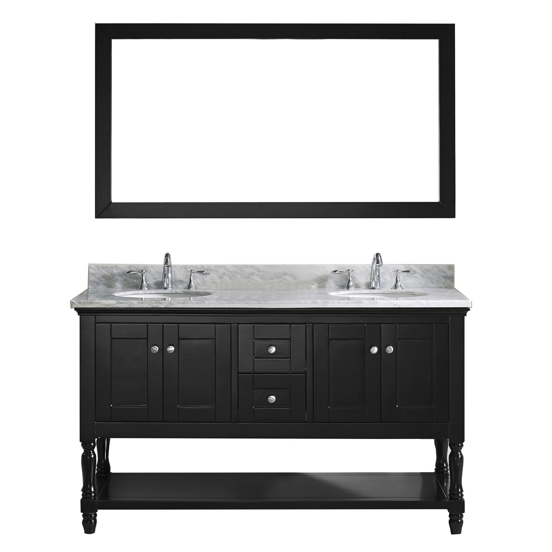 Virtu MD-3160-WMRO-ES-002 Julianna 60 Inch Double Bathroom Vanity Set In Espresso