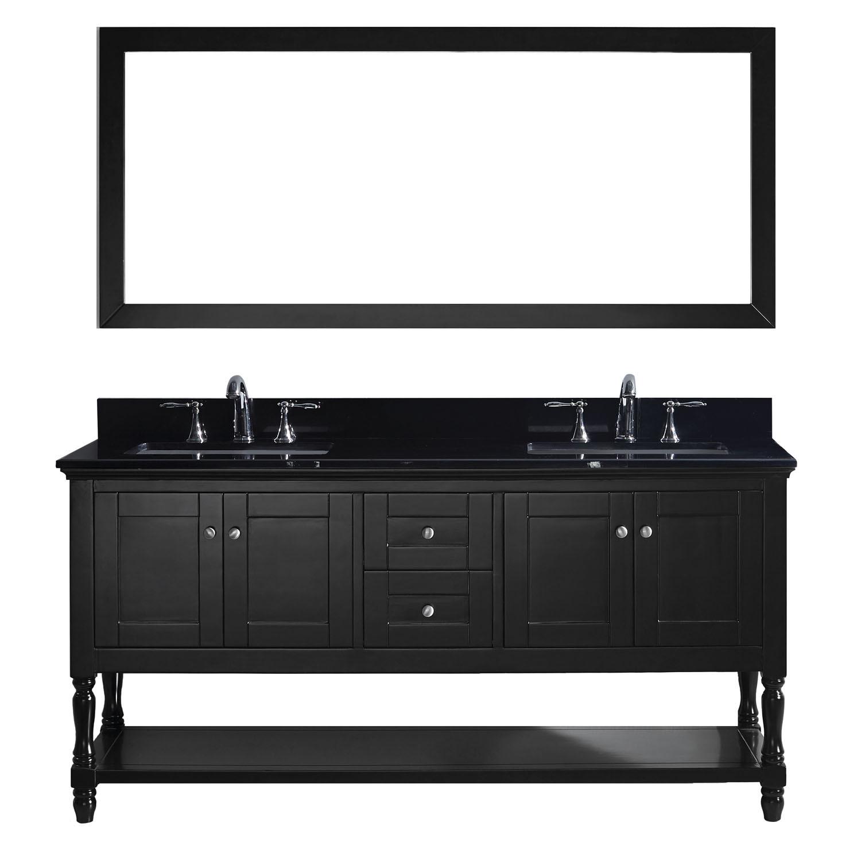 Virtu MD-3172-BGSQ-ES-002 Julianna 72 Inch Double Bathroom Vanity Set In Espresso