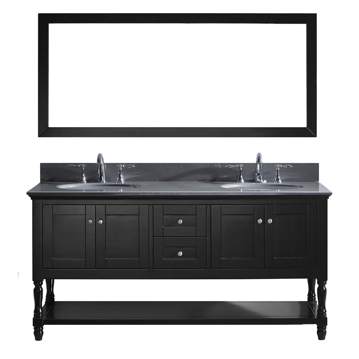 Virtu MD-3172-GQRO-ES-001 Julianna 72 Inch Double Bathroom Vanity Set In Espresso