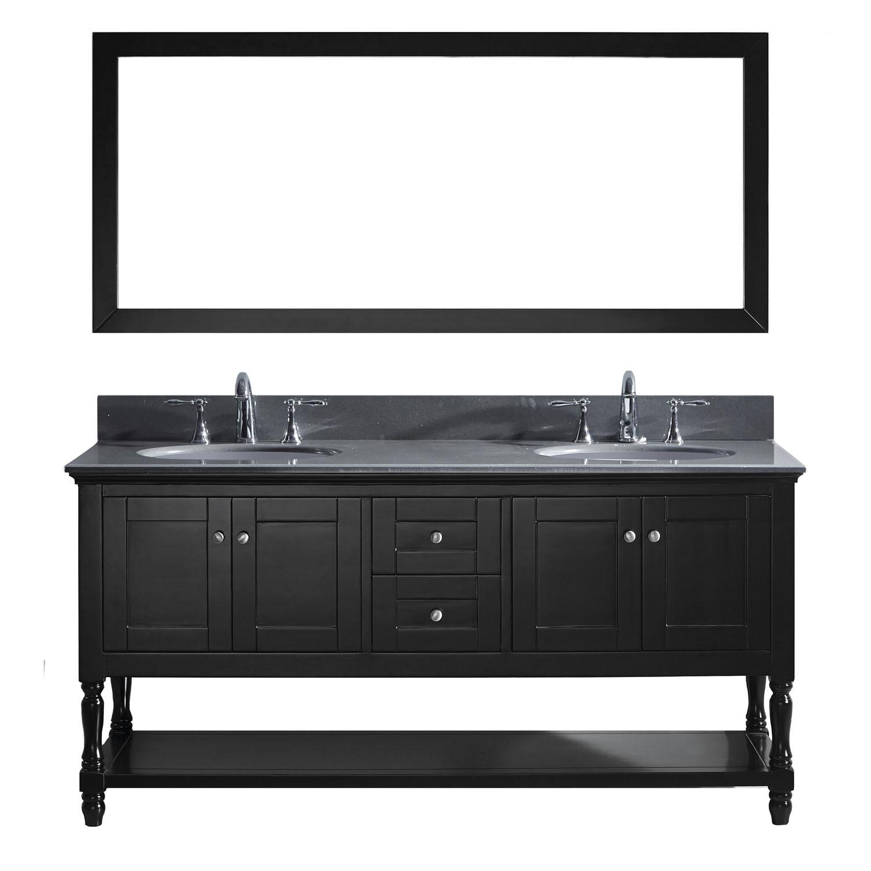 Virtu MD-3172-GQRO-ES-002 Julianna 72 Inch Double Bathroom Vanity Set In Espresso