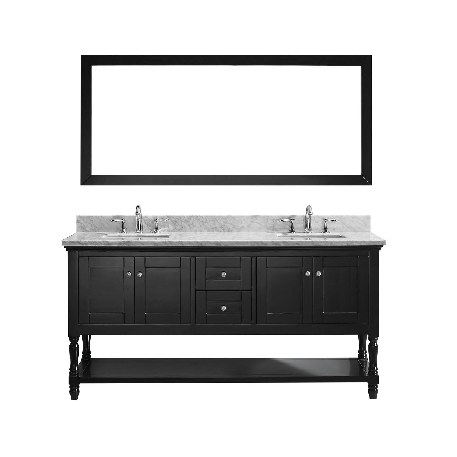 Virtu MD-3172-WMSQ-ES-002 Julianna 72 Inch Double Bathroom Vanity Set In Espresso
