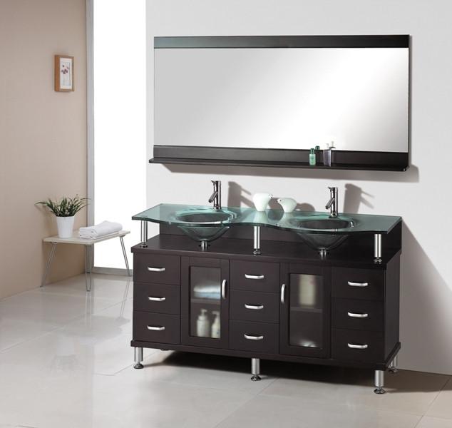 Virtu USA MD-61-ES Rocco - Espresso - Double Sink Bathroom Vanity