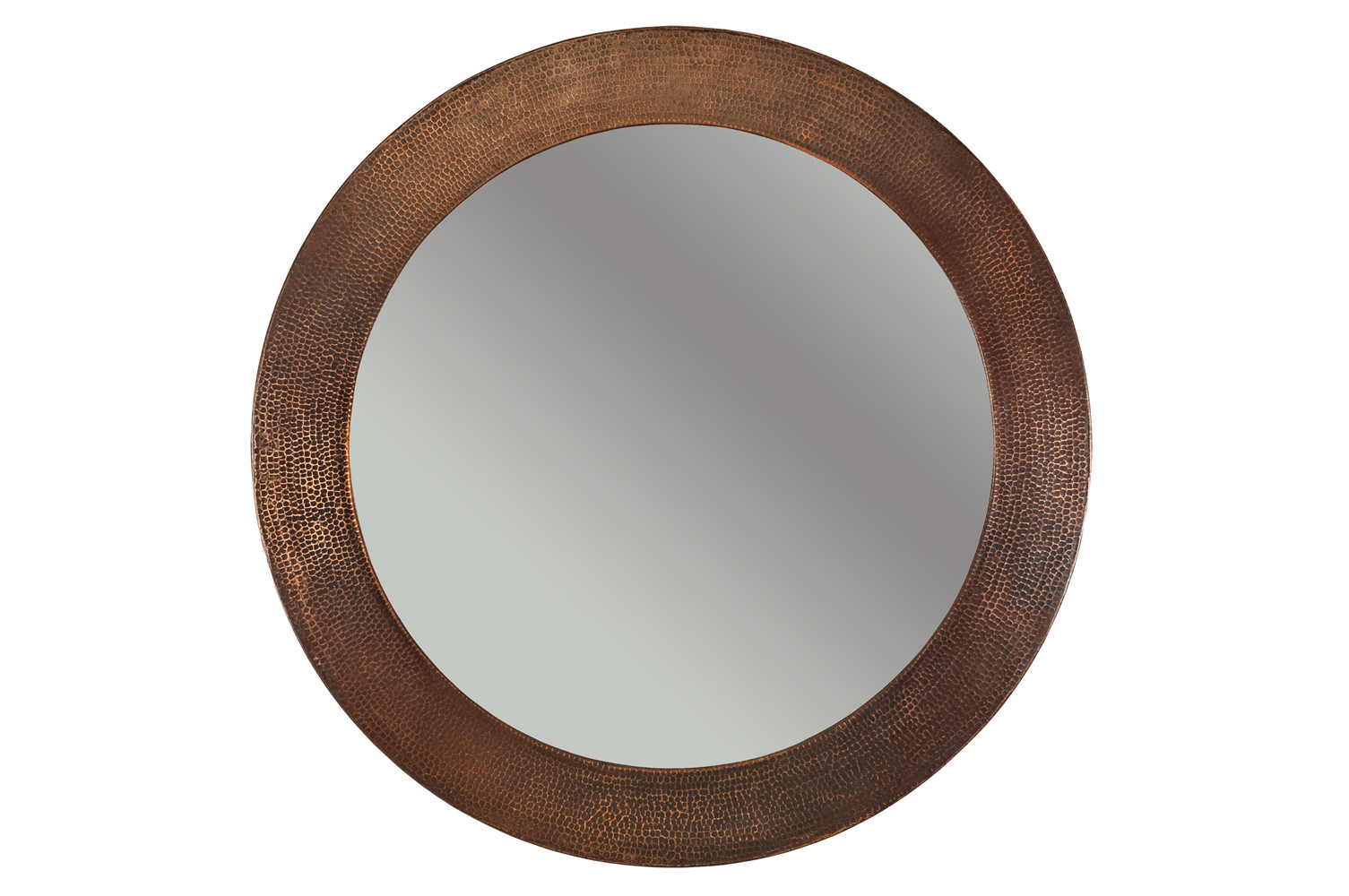 Premier Copper MFR3434 34 Inch Oil Rubbed Bronze Round Copper Mirror