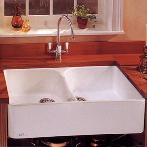 Franke MHK720-35 36'' Double Bowl Fireclay Apron Sink