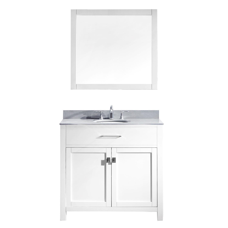 Virtu MS-2036-GQRO-WH-002 Caroline 36 Inch Single Bathroom Vanity Set In White