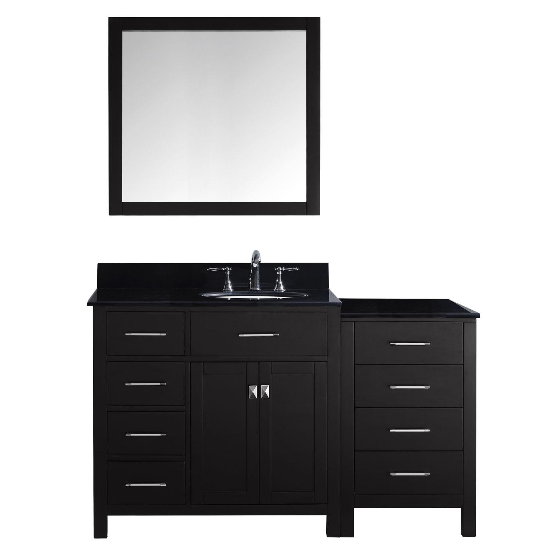 Virtu MS-2157L-BGRO Caroline Parkway 57 Inch Single Bathroom Vanity Set
