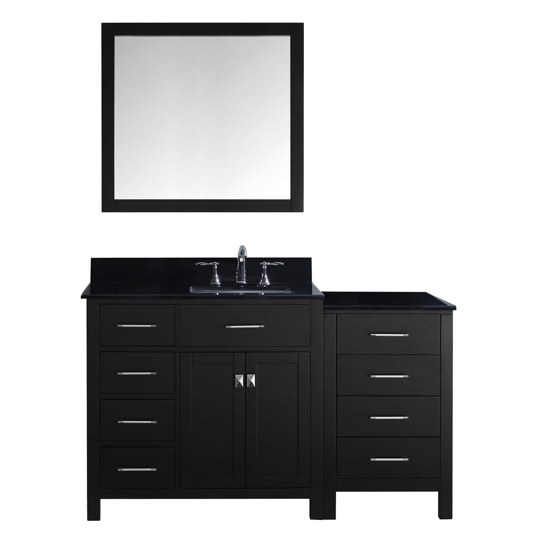 Virtu MS-2157L-BGSQ Caroline Parkway 57 Inch Single Bathroom Vanity Set