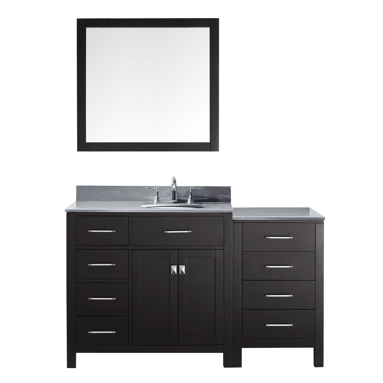 Virtu MS-2157L-GQRO-ES-001 Caroline Parkway 57 Inch Single Bathroom Vanity Set In Espresso