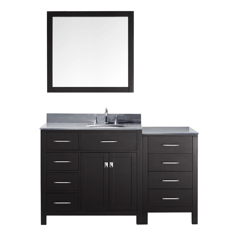 Virtu MS-2157L-GQRO-ES-002 Caroline Parkway 57 Inch Single Bathroom Vanity Set In Espresso